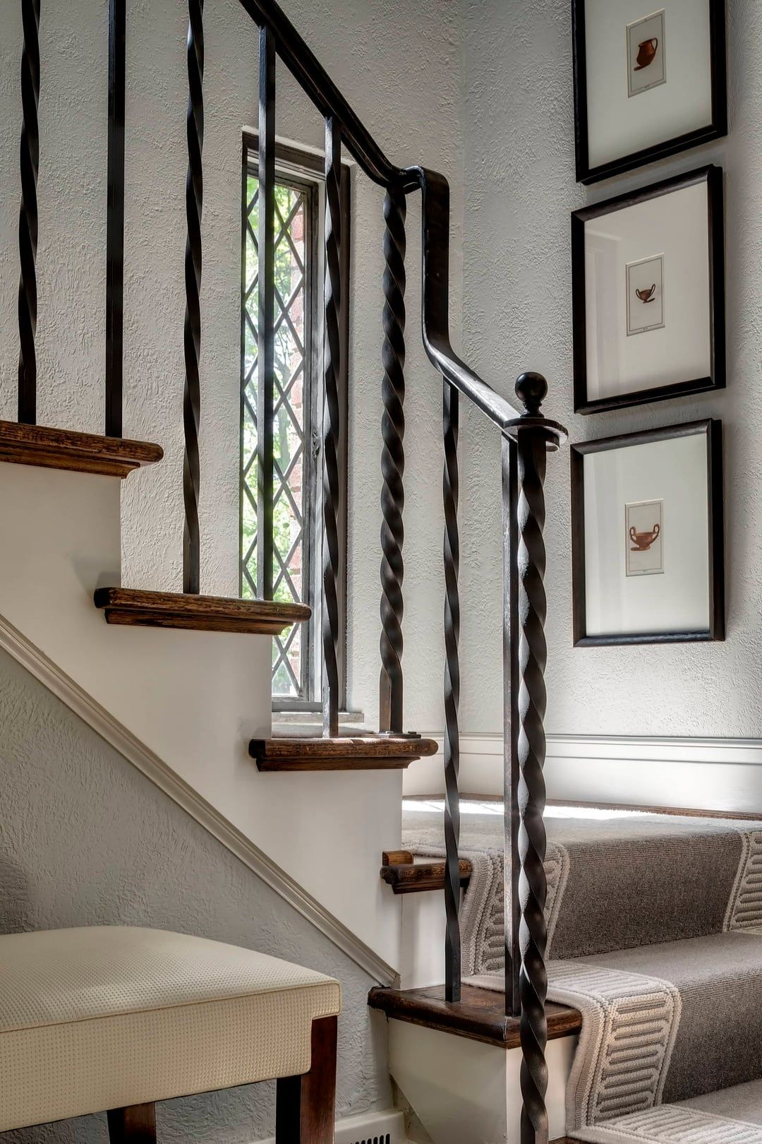 In Town Tudor With Images Tudor Decor Iron Stair Railing