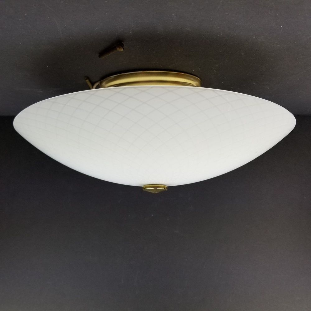 Vtg Moe Light Ceiling Fixture 12 3/4\