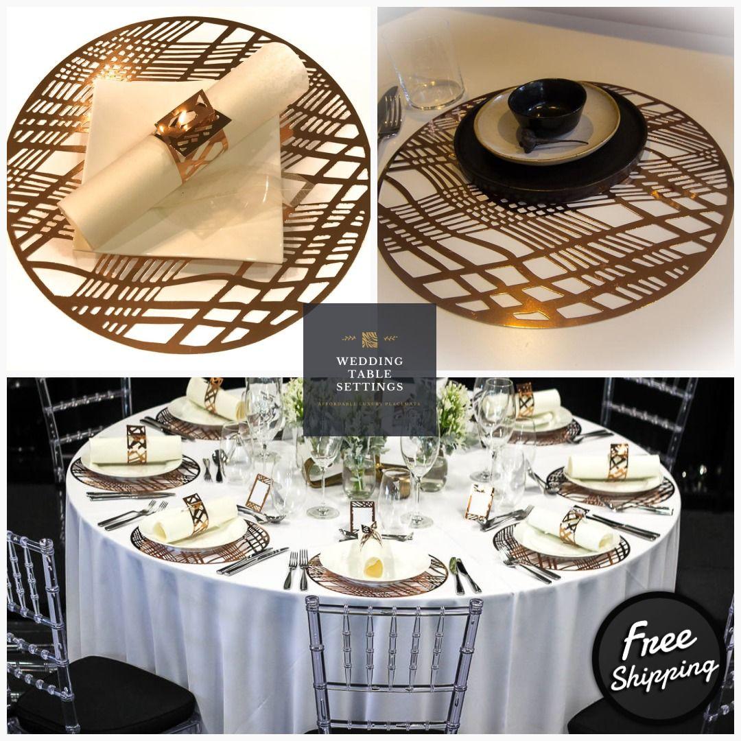 Wedding Charger Plateswedding Placematsround Copper Etsy Wedding Placemats Charger Plates Wedding Gold Table Setting