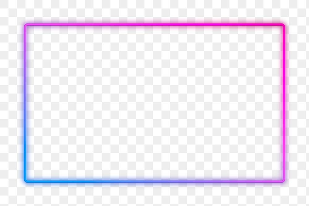 Pink And Blue Neon Frame Design Element Free Image By Rawpixel Com Aum