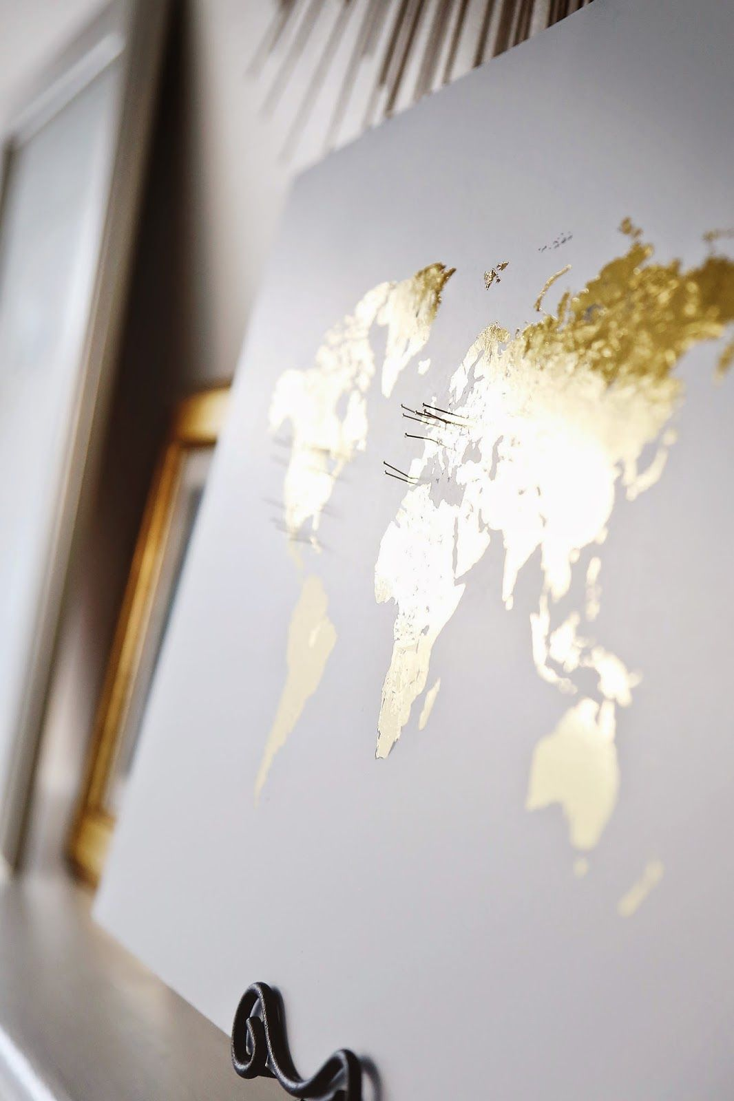 Pinning places on a gold leaf world map the life i love pinning places on a gold leaf world map gumiabroncs Image collections