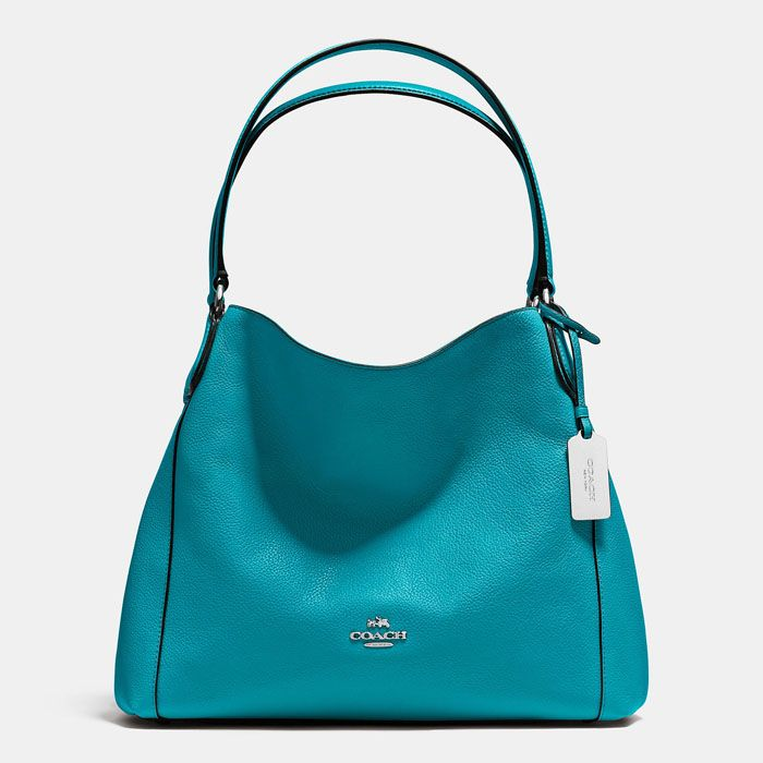 31805c49b56a Coach Turquoise Edie Shoulder Bag 31