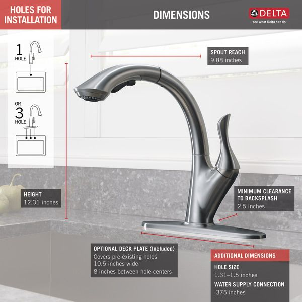 4153 Ar Dst With Images Kitchen Faucet Pull Out Kitchen
