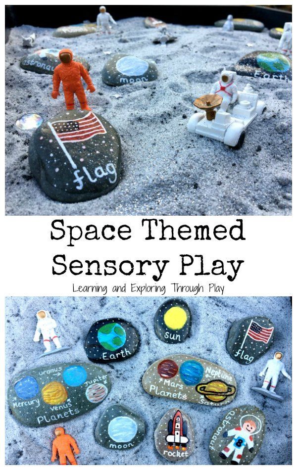 Space Themed Sensory Tray | Space crafts for kids, Space ...