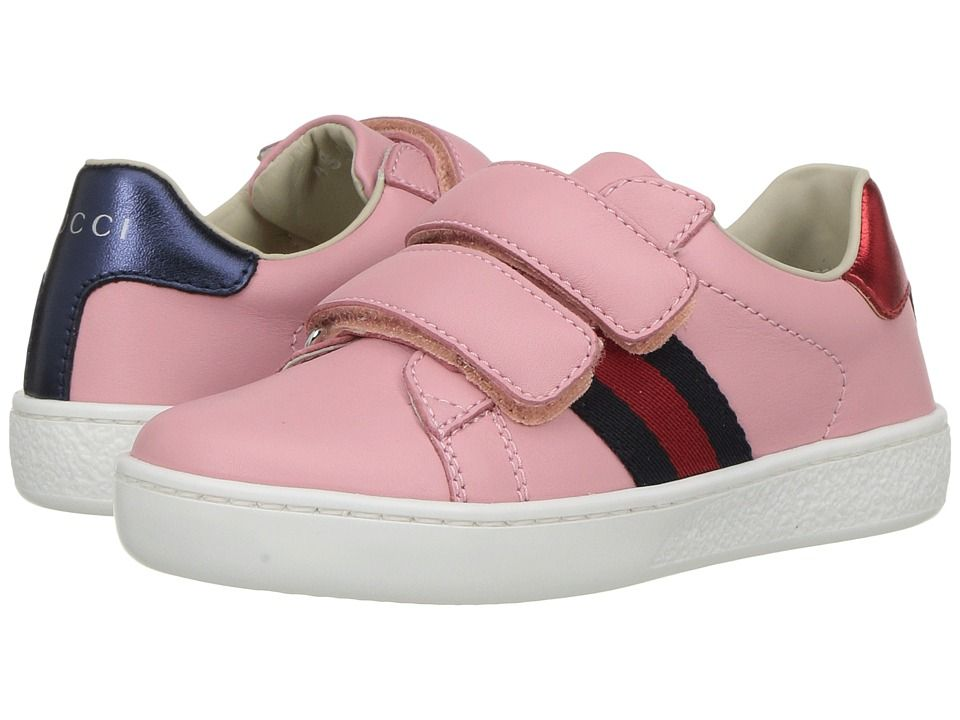1c9740b9dd3 Gucci Kids New Ace V.L. Sneakers (Toddler) Girls Shoes Red Blue ...