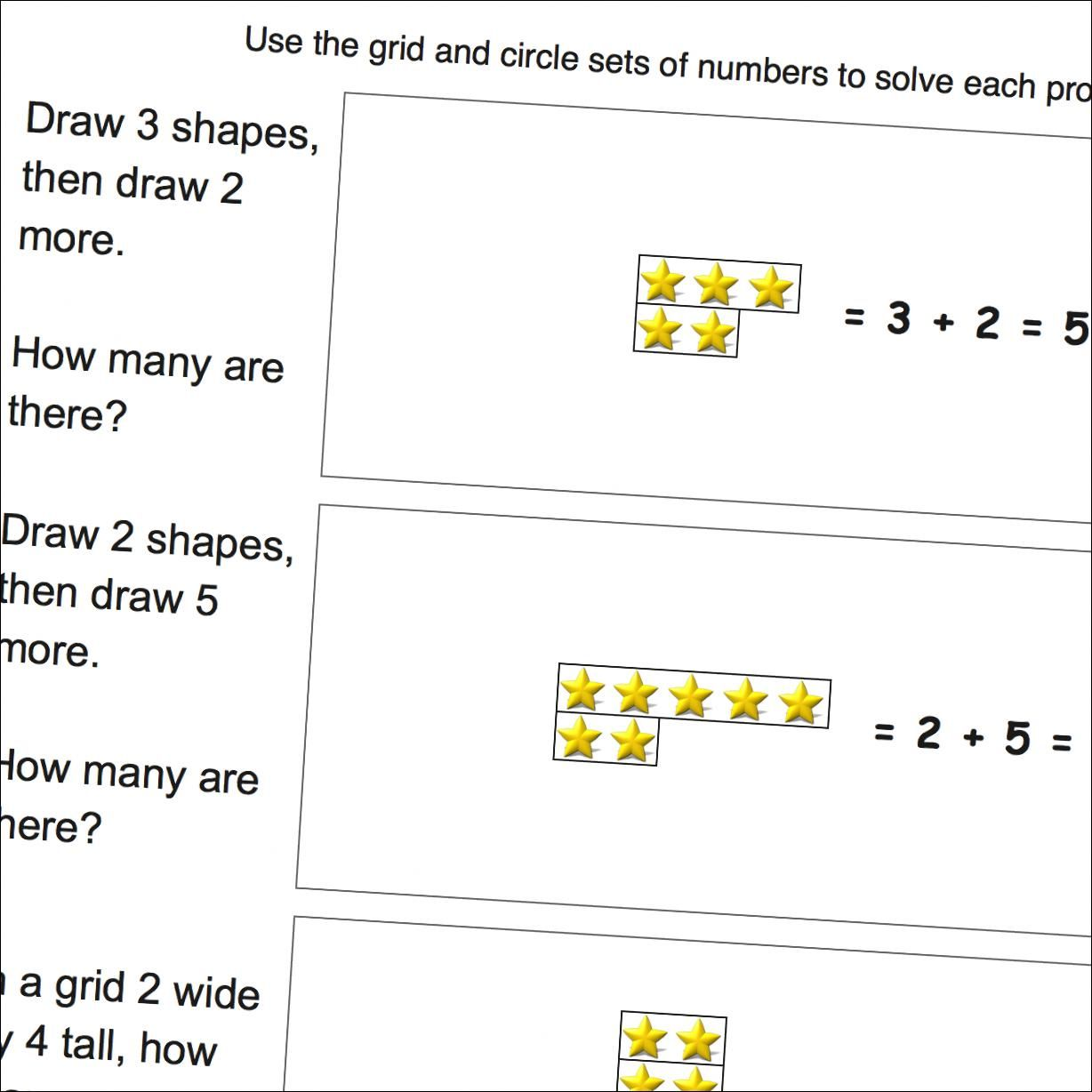 Picture Math Addition Addition Word Problems