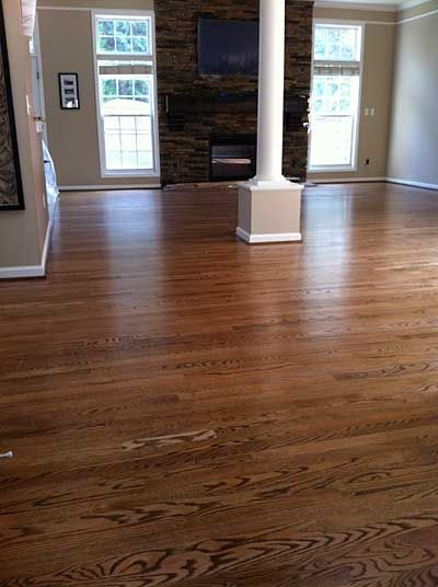Red oak with duraseal special walnut stain bona traffic for Hardwood floors examples