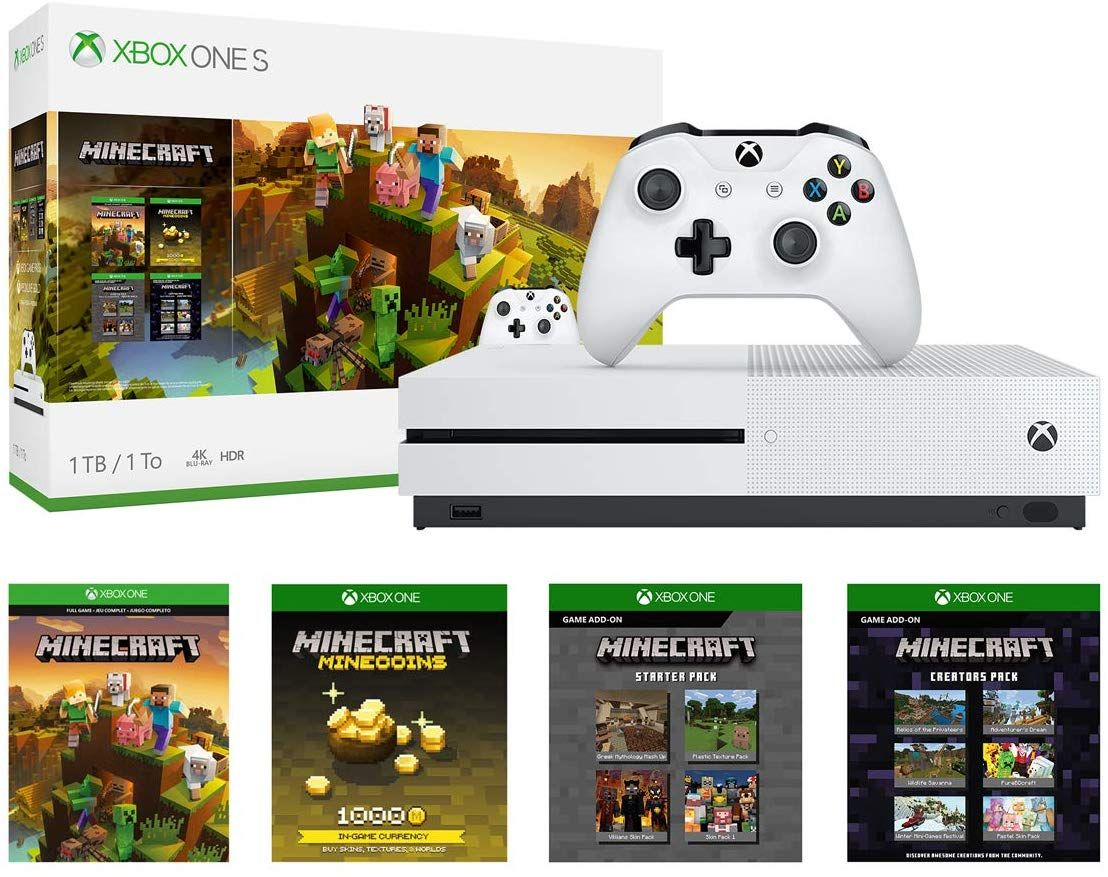 Xbox One S 1tb Console Minecraft Creators Bundle Save 100 Head On Over To Amazon Where You Can Grab This Xbo Xbox One S 1tb Xbox One S Minecraft Creator