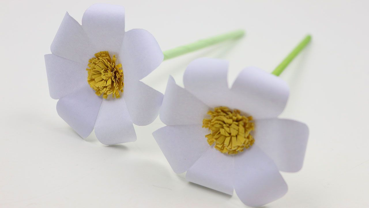 How To Make Diy Very Easy To Make Beautiful Flowers With Color Paper