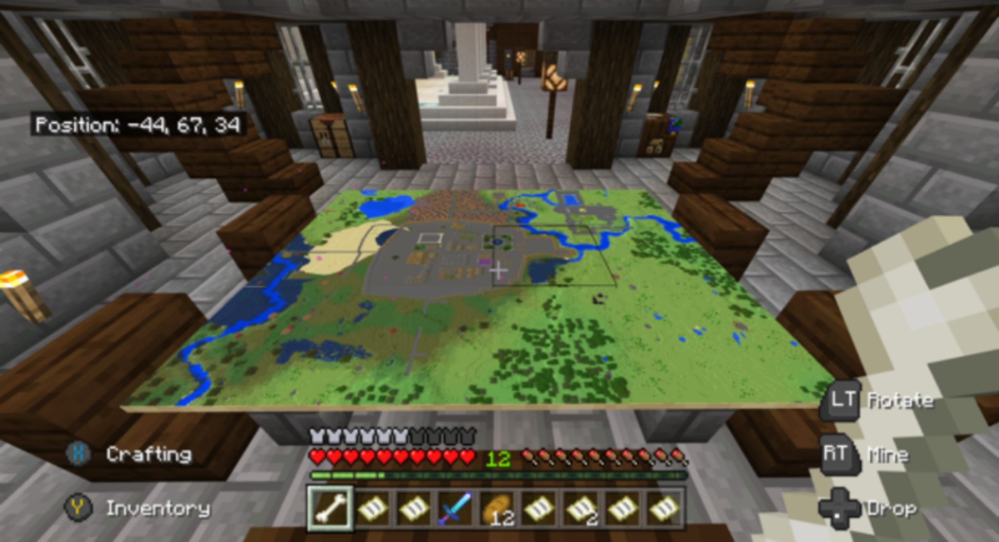 Minecraft map table