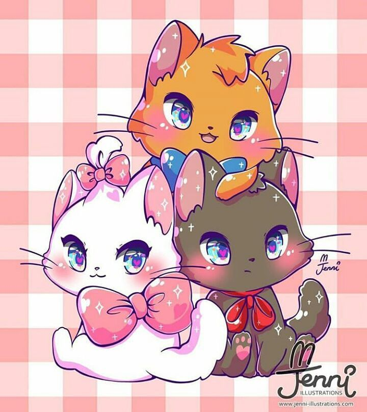 The Kawaii Lovers On Instagram Comment You Like Colour Cats Fff Lfl Cute Animal Drawings Kawaii Cute Kawaii Drawings Kawaii Chibi