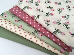 Cath Kidston Floral Fabric Fat Quarters Bundle Patchwork Pieces 100/% Cotton