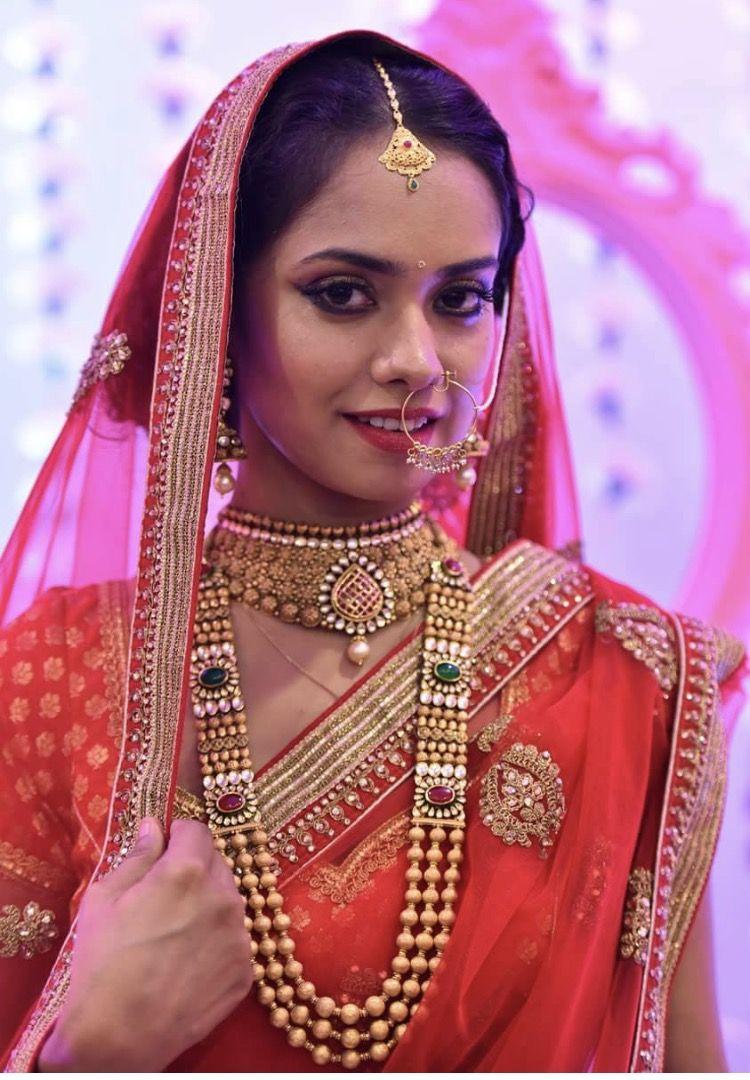 Pin by g k on jewllery pinterest bride portrait saree and manish