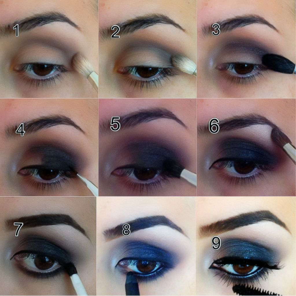 Step by step pictorial of a smokey eye | Eye makeup, Gold ...