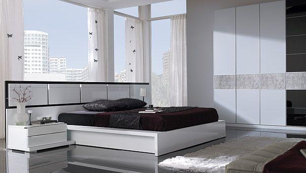 Dormitorio moderno blanco camas pinterest - Dormitorios blancos modernos ...