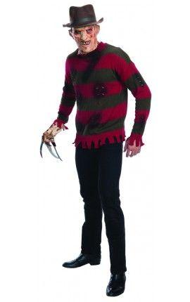 Jersey De Freddy Krueger Pesadilla En Elm Street Disfraces De Halloween Para Hombres Disfraz De Freddy Krueger Halloween Disfraces