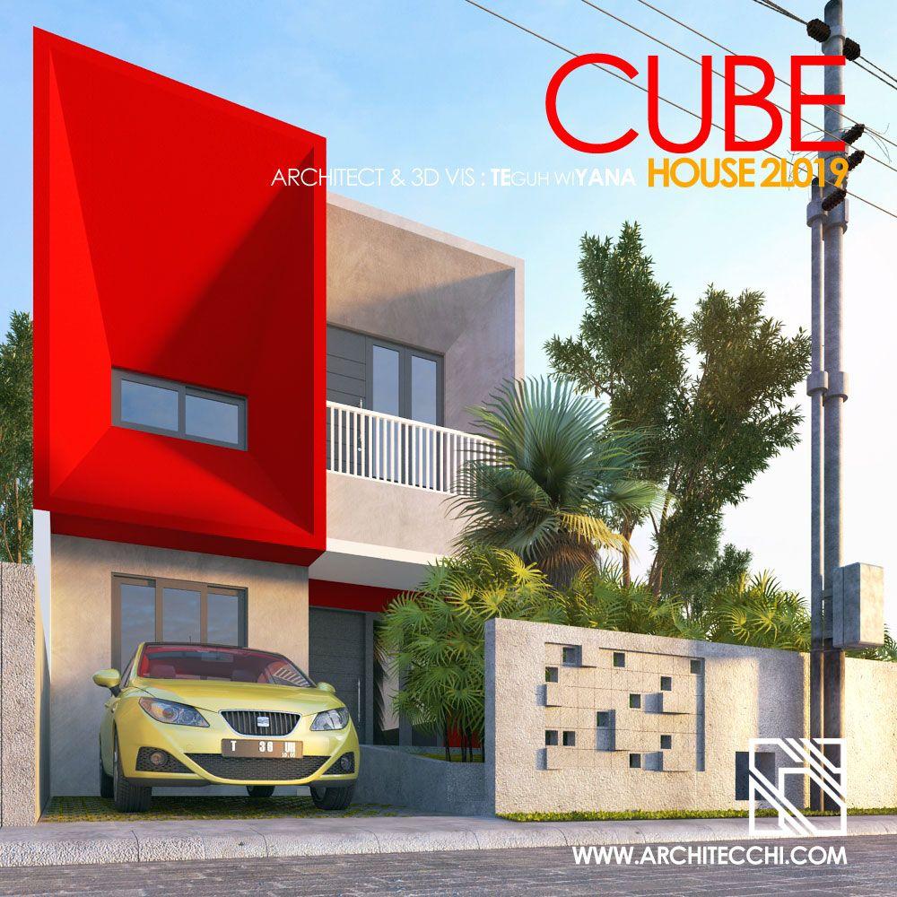 Cube House 2L019 Desain Rumah Minimalis 2 Lantai Type 100 90 Lebar