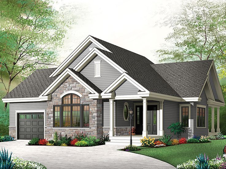 Empty Nester House Plan 027h 0322 Cute Outside Front And Back Of House But Onl Affordable House Plans Country Style House Plans Craftsman Style House Plans