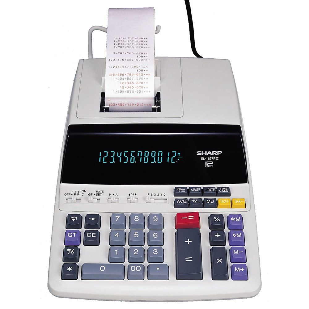 Sharp El 1197piii Desktop Printing Calculator Item 776321 Printing Calculators Desktop Calculator Calculator