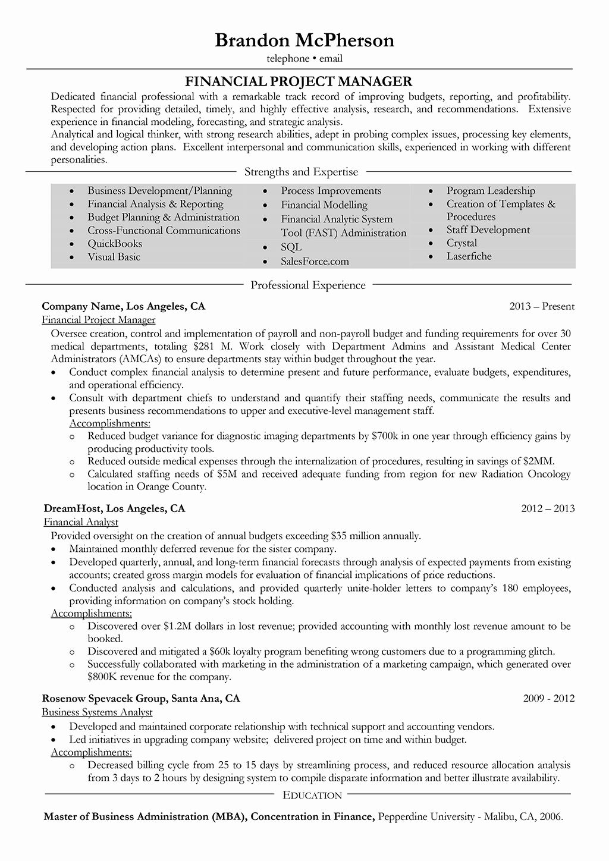 Entry level project management resume fresh salesperson