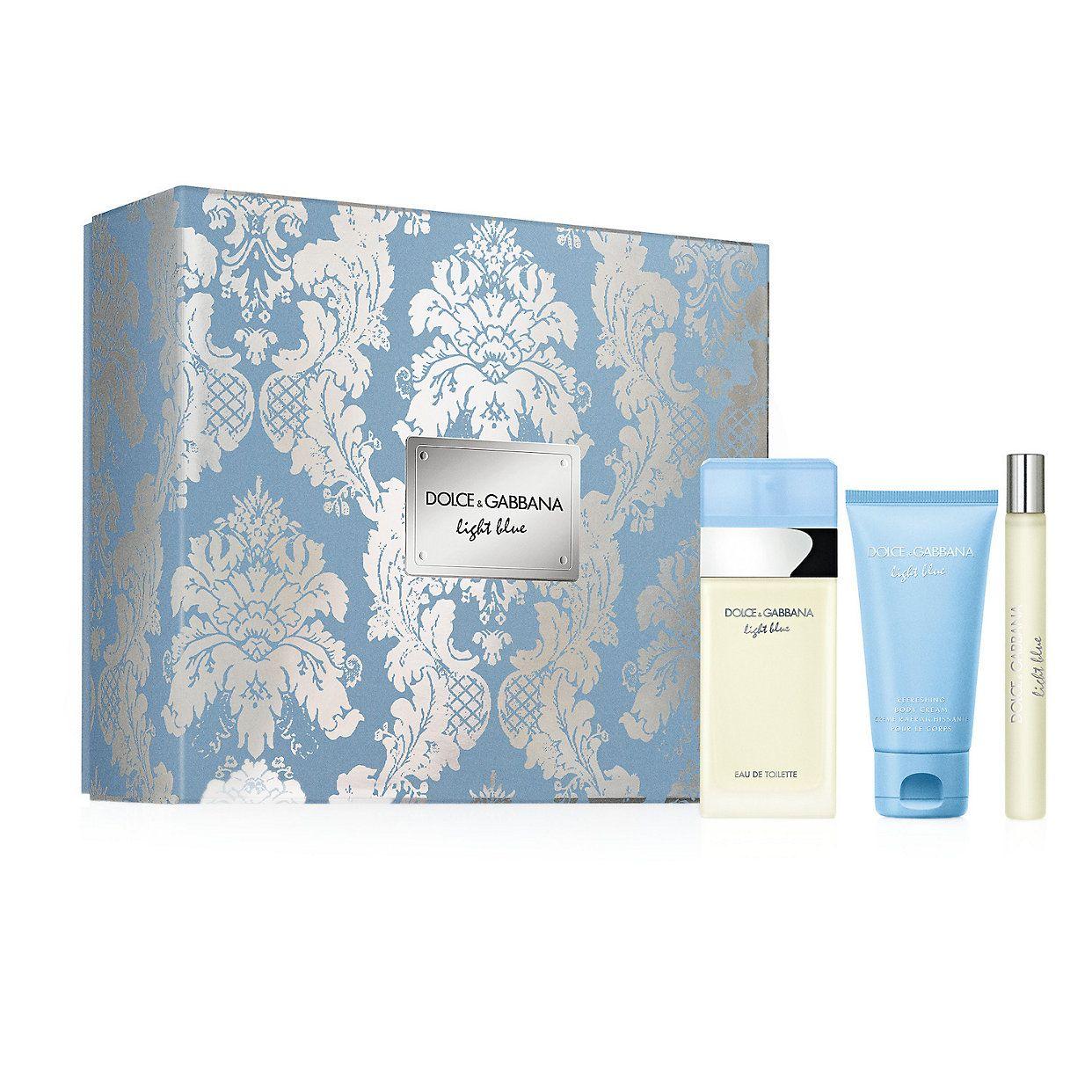 Dolce Gabbana Light Blue Trio Set Women S Perfume Eau De Toilette 123 Value Dolce And Gabbana Perfume Dolce And Gabbana Women Perfume