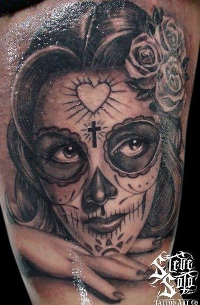 sugar skull girl dotd girl tattoo ink body art sugar skull girl tattoo. Black Bedroom Furniture Sets. Home Design Ideas