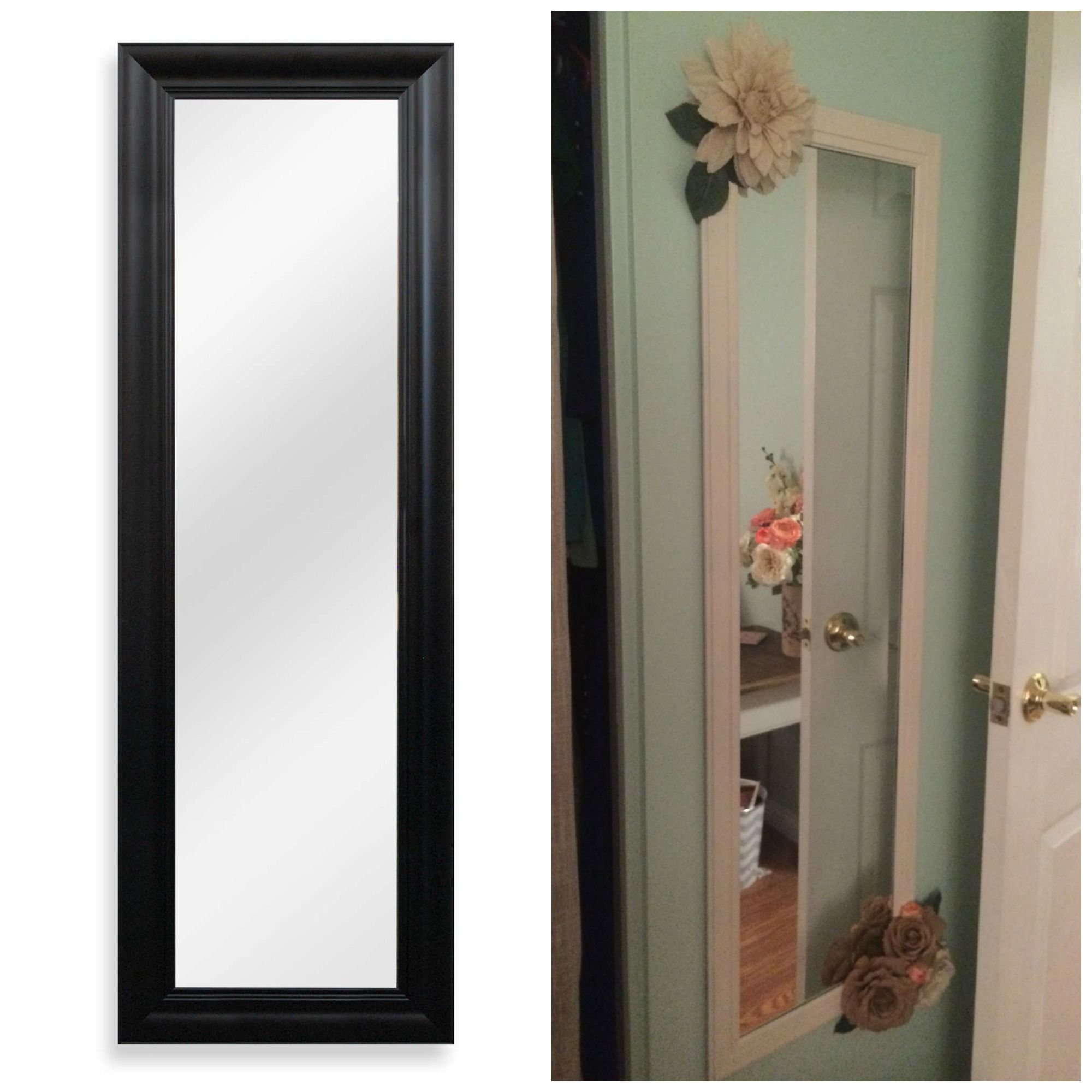 15 Plain Black Mirror From Big Lots Spray Painted Cream With