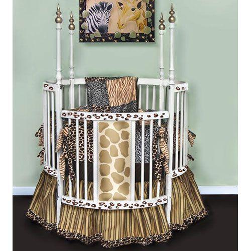 Jungle Giraffe Round Crib
