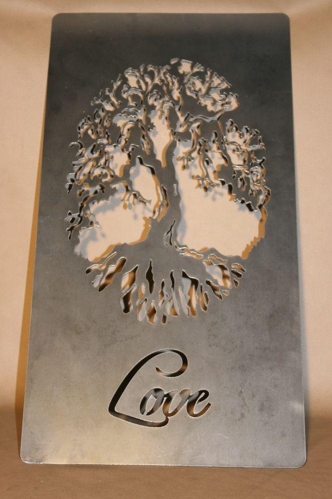 tall decorative love tree of life plasma metal wall art hanging