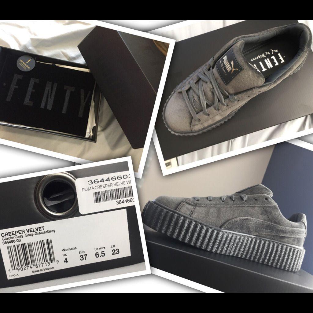 best service 2b30f 6d74a Puma Shoes | Puma Fenty Creeper Velvet Gray | Color: Gray ...