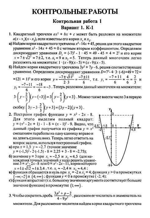 Решение контрольных работ по алгебре 7 класс издательства весна роганин