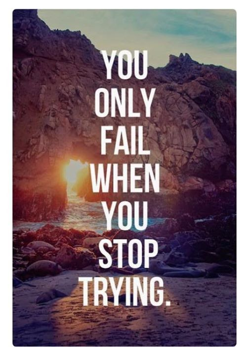Only you can control your destiny! Never accept failure ...