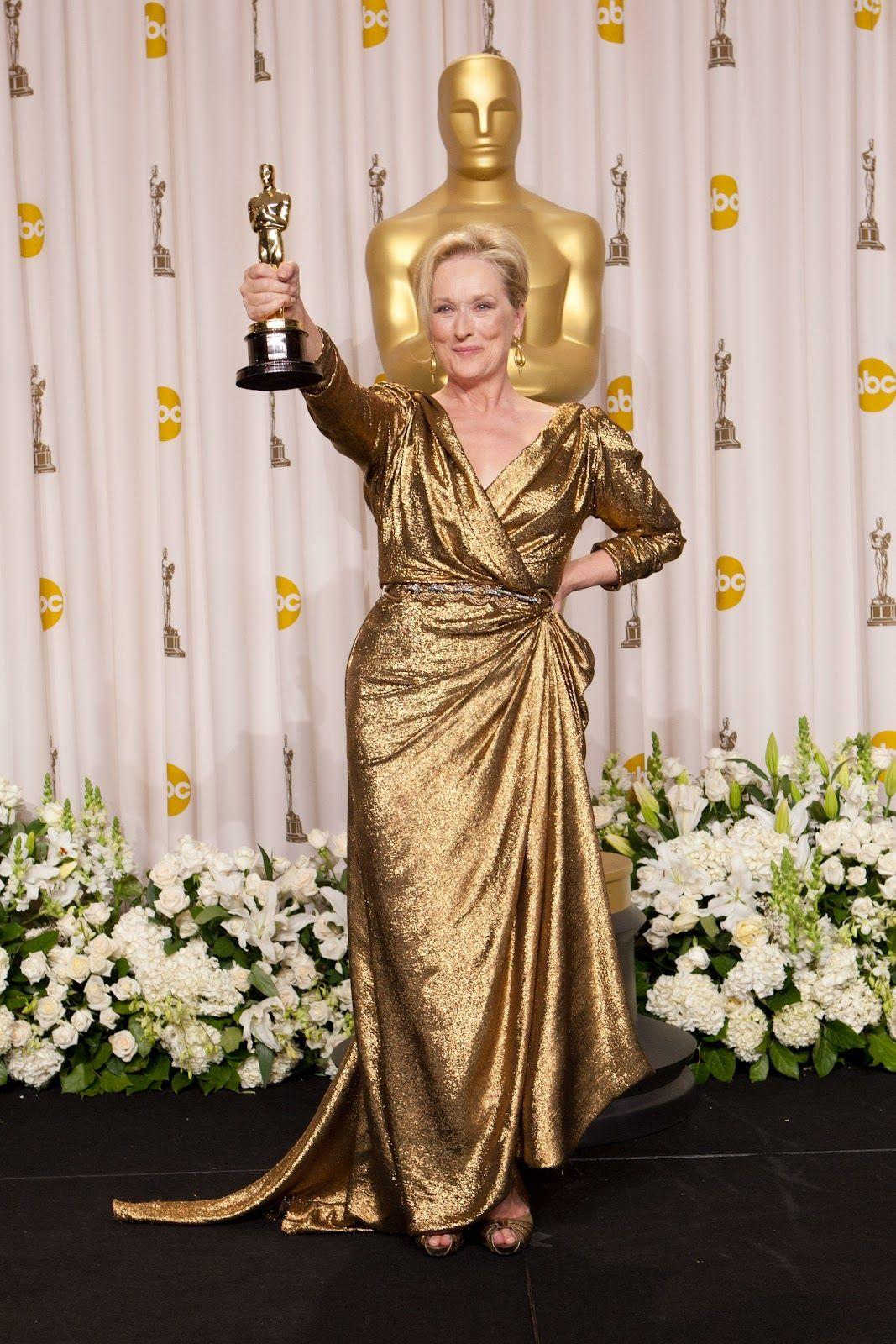 Resultado de imagen de Meryl Streep en los premios Oscar 2012
