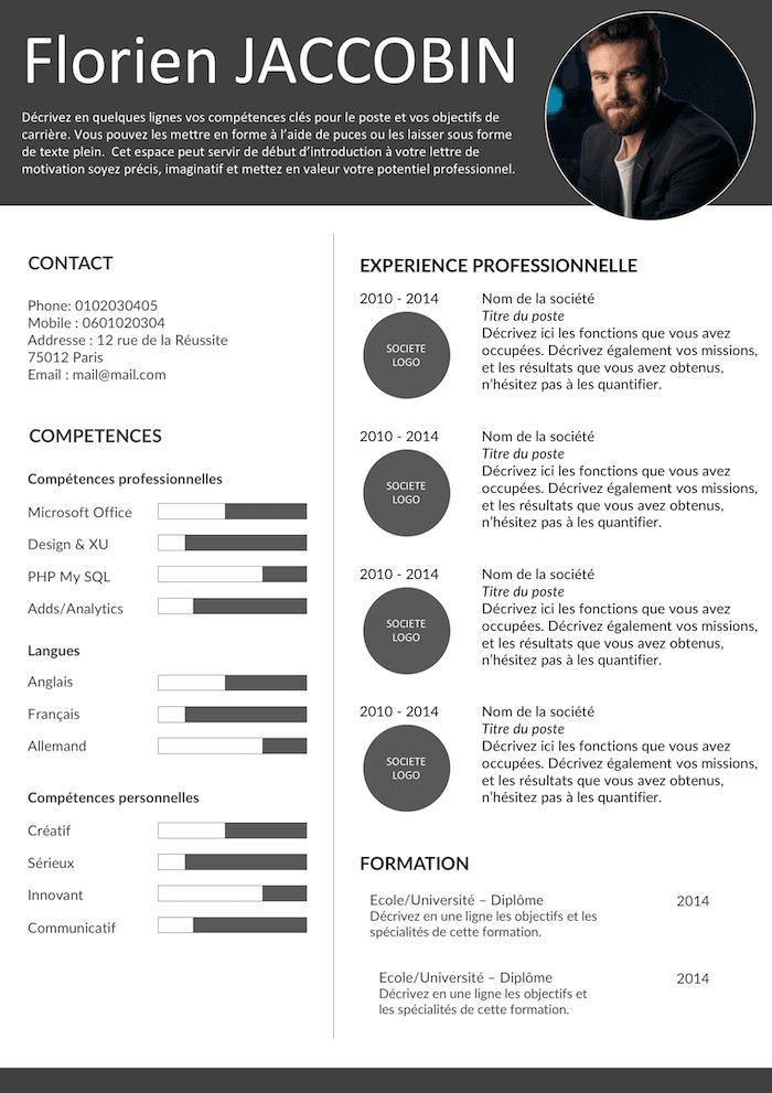 Épinglé par Jihen Mejri sur CV en 2020 (avec images