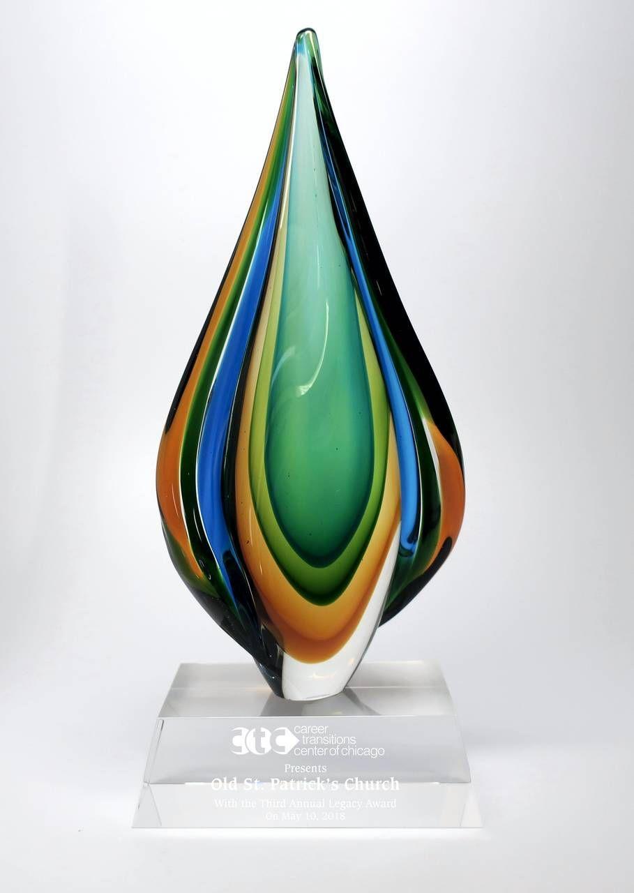 Jungle Wind Art Glass Award Glass Awards Glass Art Glass Artwork