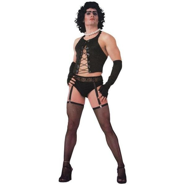 WIG Party Frank Rocky Horror Fancy Dress Costume Mens Adult FUNNY ROCK GUY