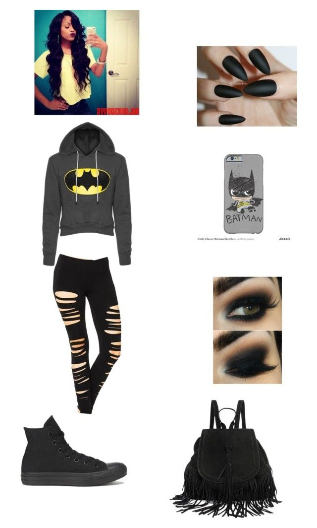 """""""Batman 2"""" by kaywolf ❤ liked on Polyvore featuring Converse"""