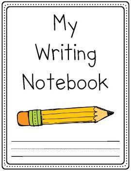 Kindergarten Writing Notebook (sections for binder ...
