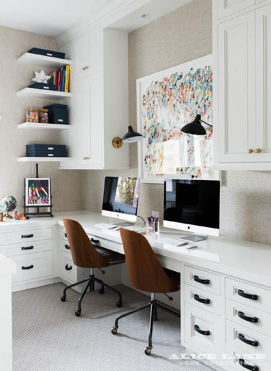 Two Person Desk Design for Your Wonderful Home Office Area | Desks ...