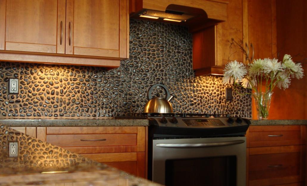 Kitchen Backsplash Rock Ceramic Tile
