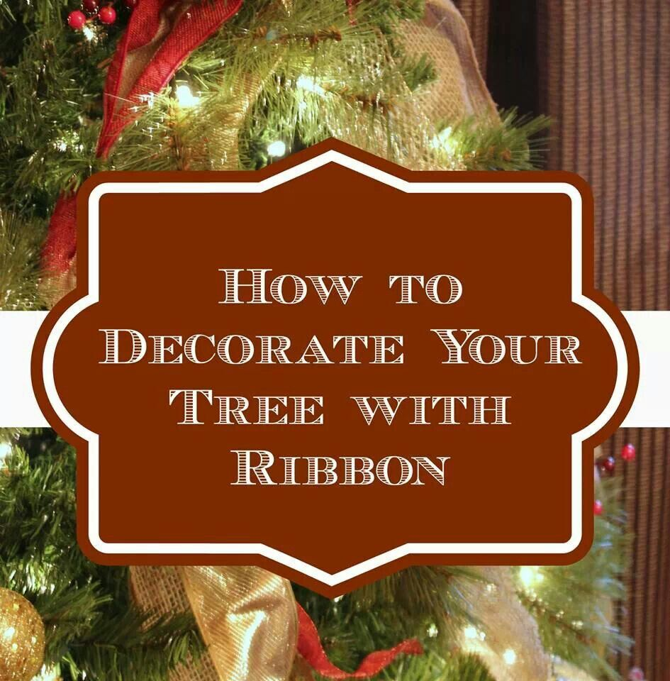 How To Decorate Your Tree With Ribbon Christmas Ideas