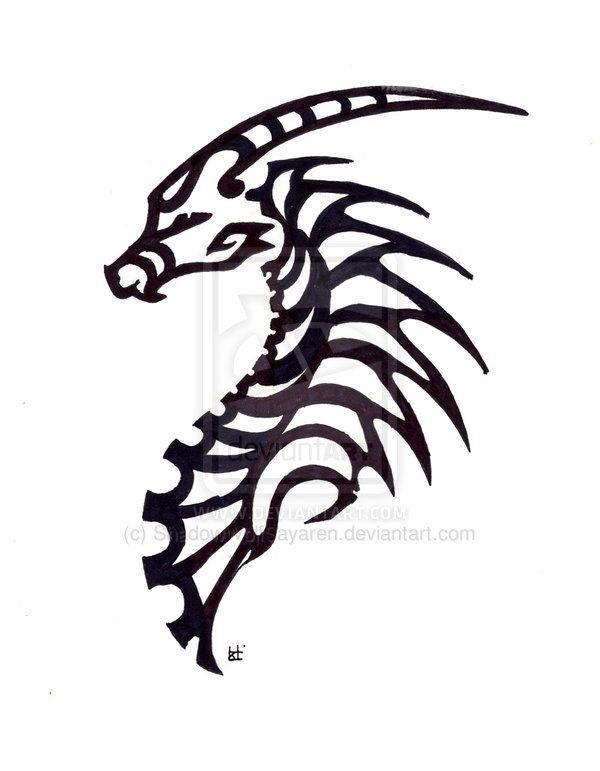 Simple Dragon Tribal By Shadowwolfsayaren On Deviantart Dragons