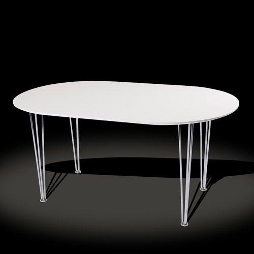 Table à manger ovale laquée blanche Ovalis  Decoclico \u003e\u003e\u003e Tables