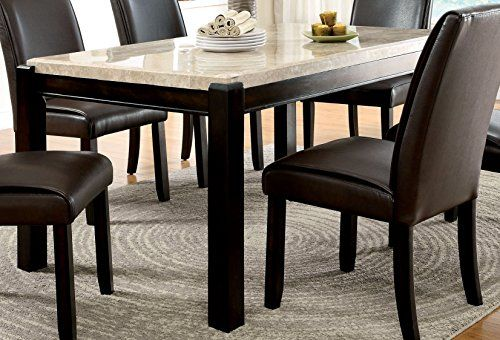 Furniture Of America Minna Contemporary Genuine Marble Dining Table More Info Could Be