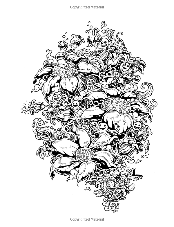 Doodle Invasion: Zifflin\'s Coloring Book: Zifflin, Kerby Rosanes ...