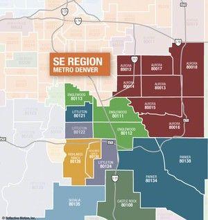 map of denver zip codes Highlands Ranch Zip Code Map 80126 80129 80130 Search Homes map of denver zip codes