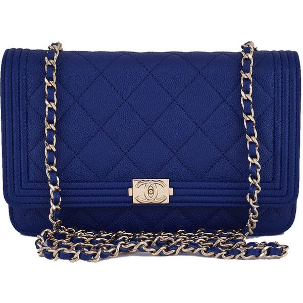 7207db1972da ($2,999) ❤ liked on Polyvore featuring bags, handbags, blue, quilted  crossbody purse, quilted handbags, chain strap purse, royal blue purse and  chanel ...