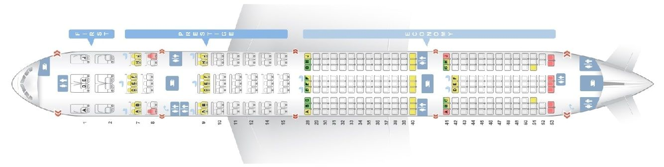 Seat Map And Seating Chart Korean Air Boeing 777 300er 291 Pax Boeing 777 Fleet Korean Air
