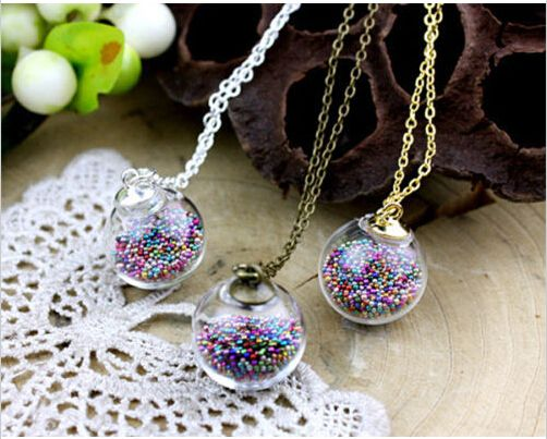 color lace custom collections pendant stars original glitter bottles bottle glass necklace products colo with tiny black