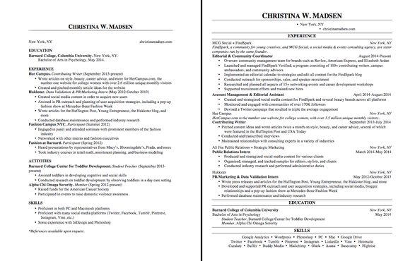 17 Ways To Make Your Resume Fit On One Page Good Objective For Resume Executive Resume Template How To Make Resume